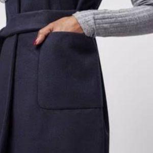 Topshop navy sleeveless vest